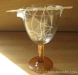 Making a DIY gel candle