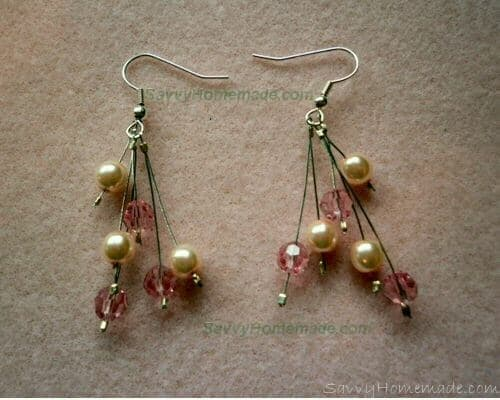 6 Strand Crimp Bead Earings