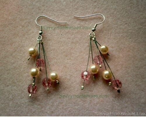 6 Strand Crimp Bead Earings