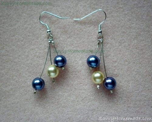 homemade crimp bead earrings
