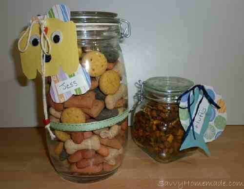 pet treat gift in a jar