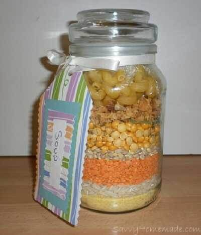Homemade Gifts In A Jar For Christmas
