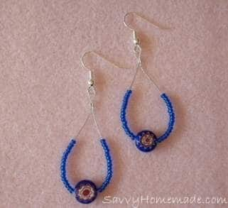 homemade swing style earrings