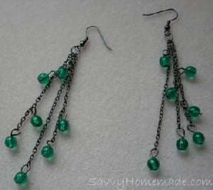 Homemade Antique Style Earrings