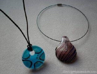 attractive homemade pendant necklace