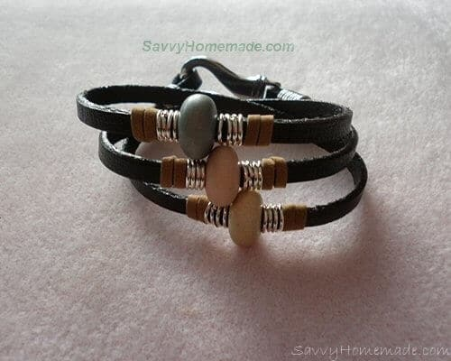 A Homemade Unisex Leather Bracelet