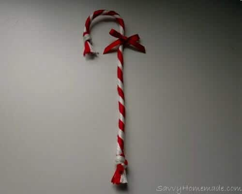 Finished Candy Cane Decoration