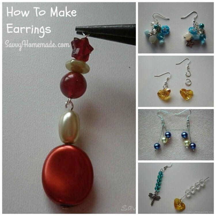 making homemade earrings