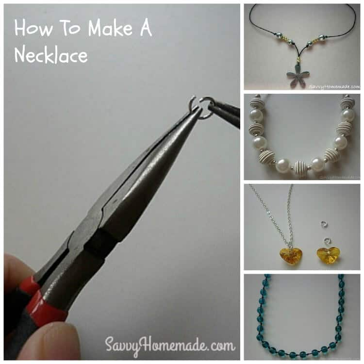 making a homemade necklace