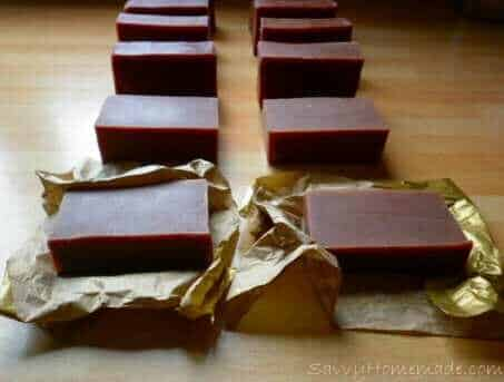 homemade chocolate soap with goats milk