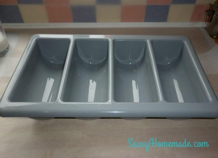cutlery bin as a soap mold