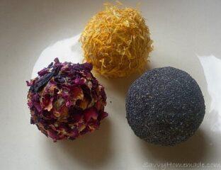 Pretty homemade soap balls