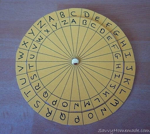 kids cipher wheel
