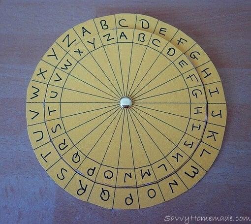 kids cipher wheel