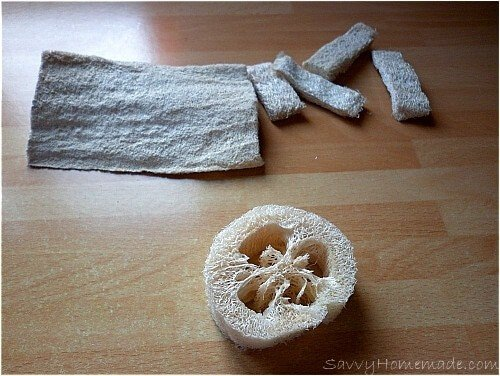 loofah for soap making