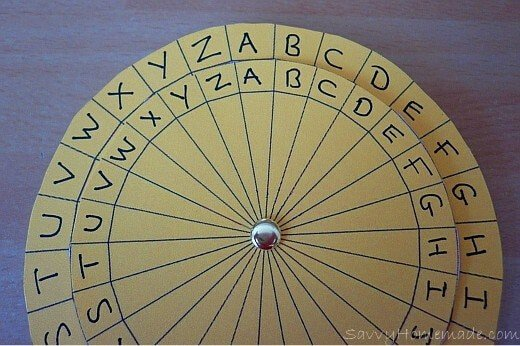 making a kids cipher wheel4