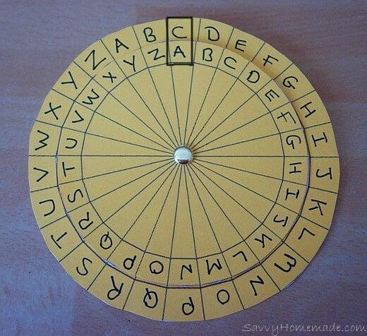 making a kids cipher wheel5
