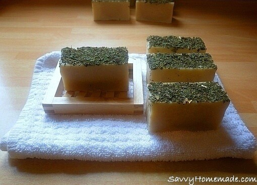 Homemade Nettle and Lime Soap