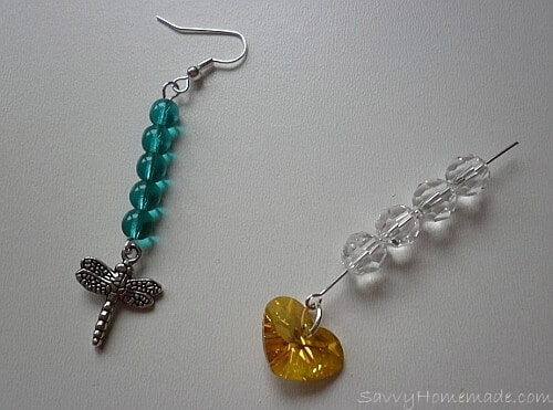 Making earrings that feature both pendants and beads