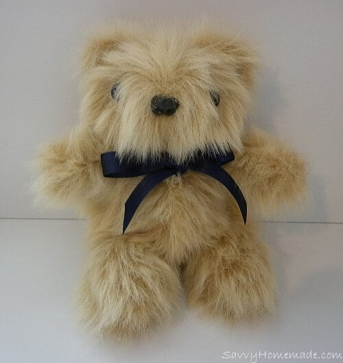 a cute little homemade teddy bear