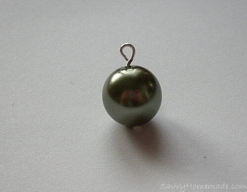 Threading beads onto a headpin for homemade earings