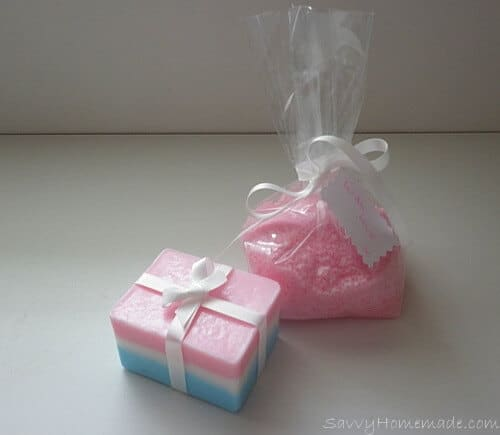Bath Salts & Layer Soap Gift