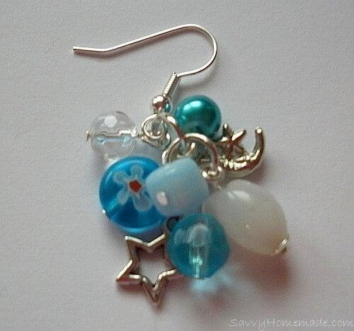 Making clustered earrings