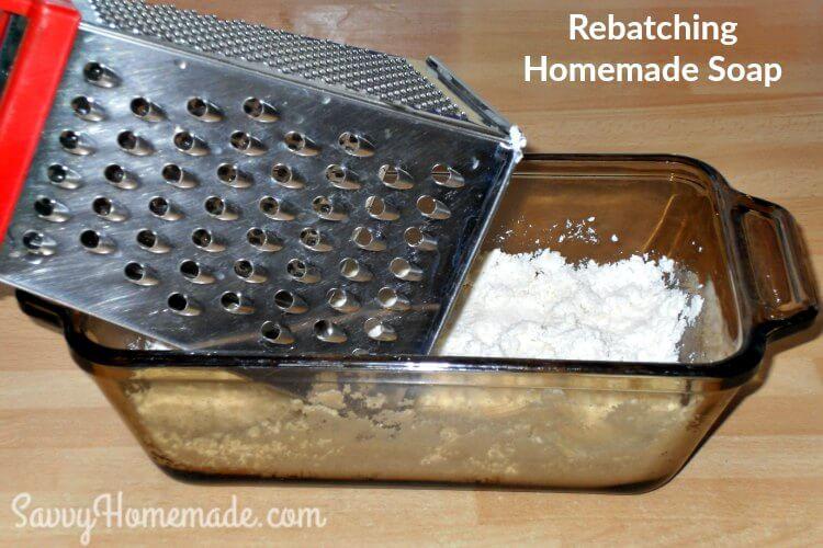 rebatching homemade soap