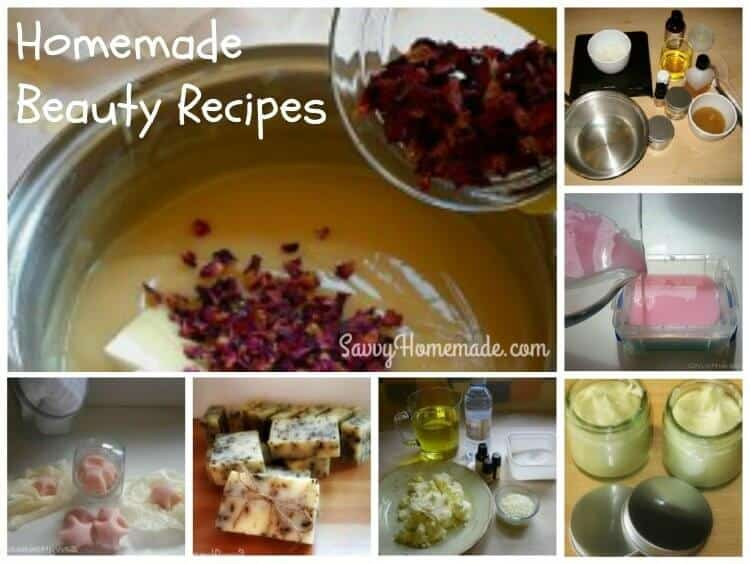 Natural Homemade Beauty Recipes For Glowing Skin & Hair