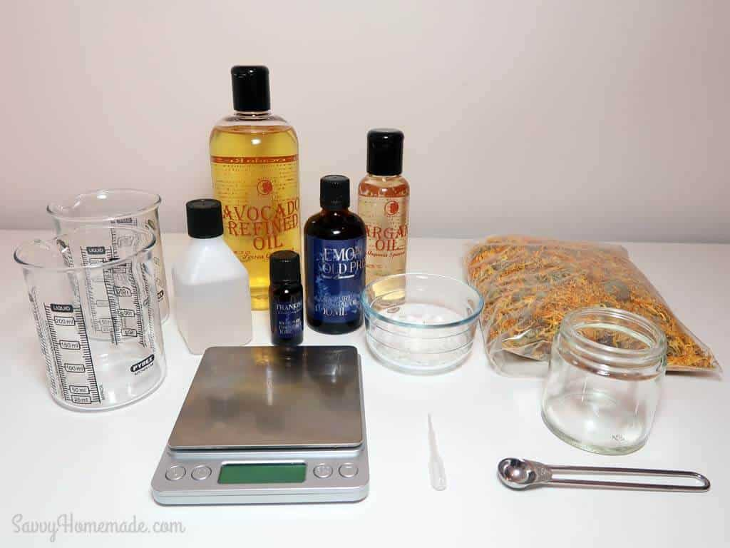 Ingredients for homemade wrinkle cream