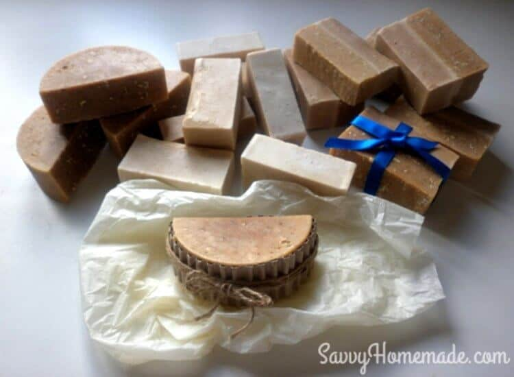 Natural honey soaps