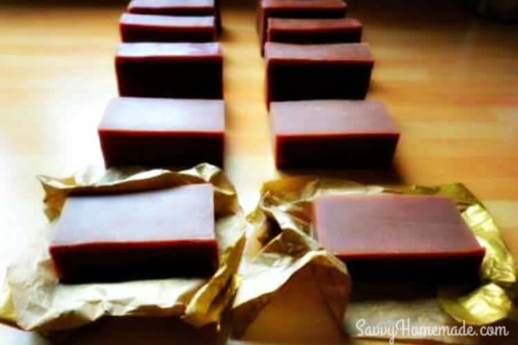 yummy homemade chocolate soap
