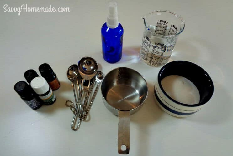 ingredients for natural homemade hair spray recipe that's alcohol free