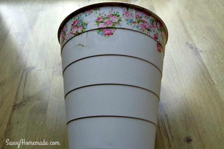 how to make a decoupage bin step 3