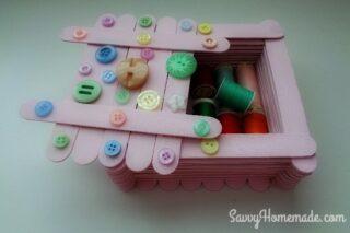 popsicle stick trinket box