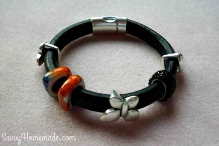 diy licorice leather bracelet