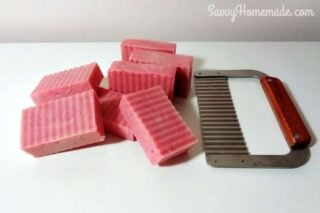 buttery homemade rose soap