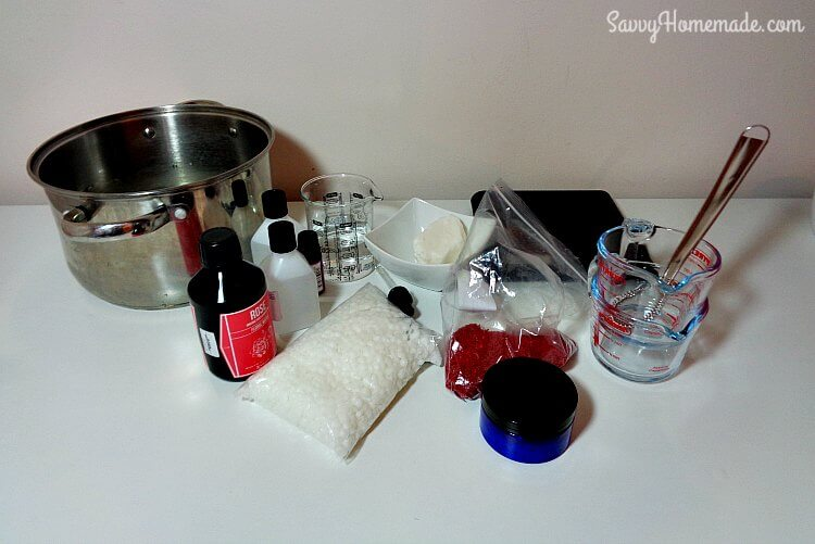 Ingredients for a homemade face scrub recipe