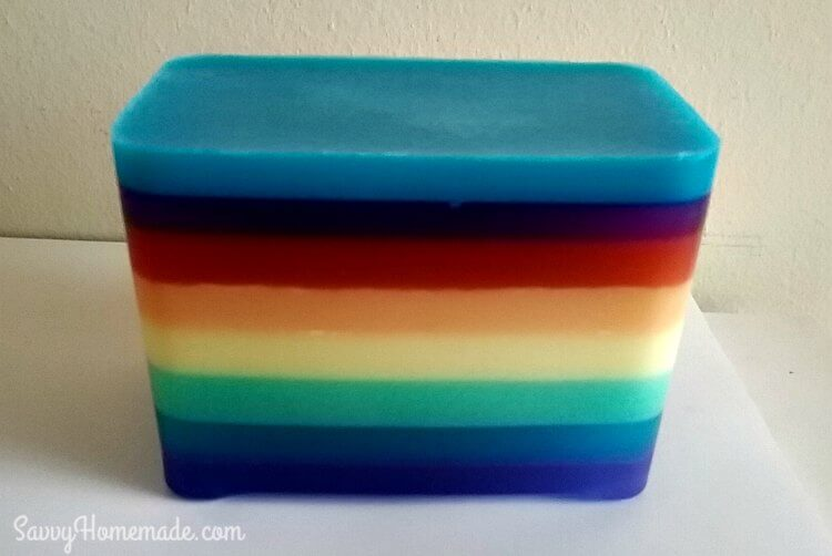 layered rainbow mp soap