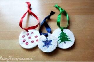 homemade clay christmas tree ornaments