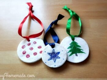 homemade clay christmas tree ornaments