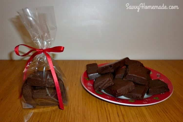 scrumptious homemade fudge gift