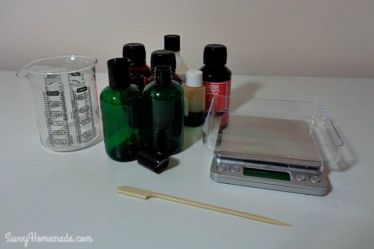 ingredients for natural diy facial cleanser using oils