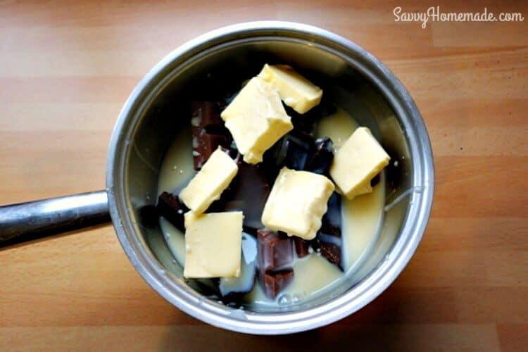 making homemade fudge