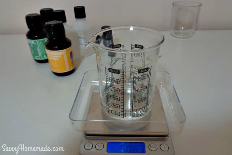 measure oils for a homemade face wash