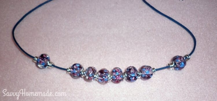 thread jump rings and beads