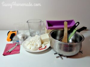 ingredients for coconut oil soap recipe