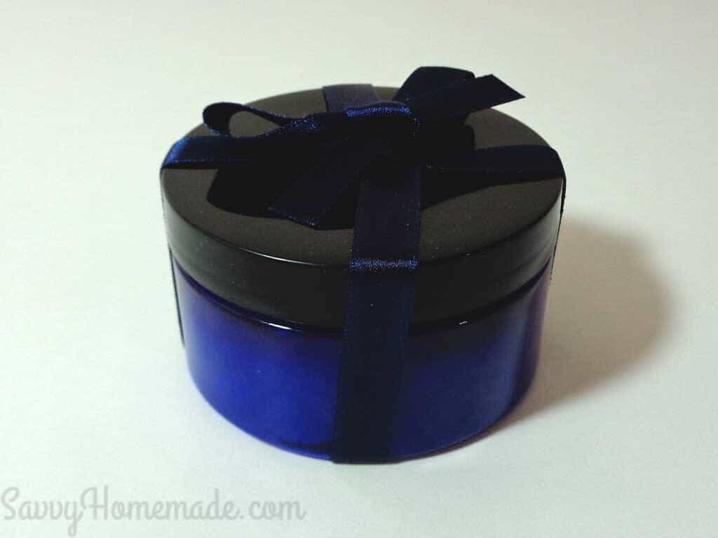 Transfer the homemade face mask gel to a suitable container