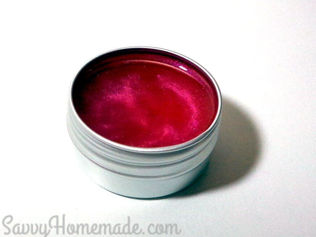 colored DIY lip balm