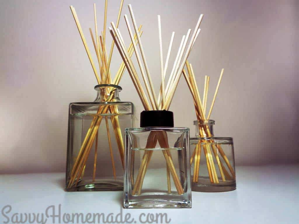 Essential Oils Diffuser For Less ~ Gorgeous diy reed diffuser in minutes or less